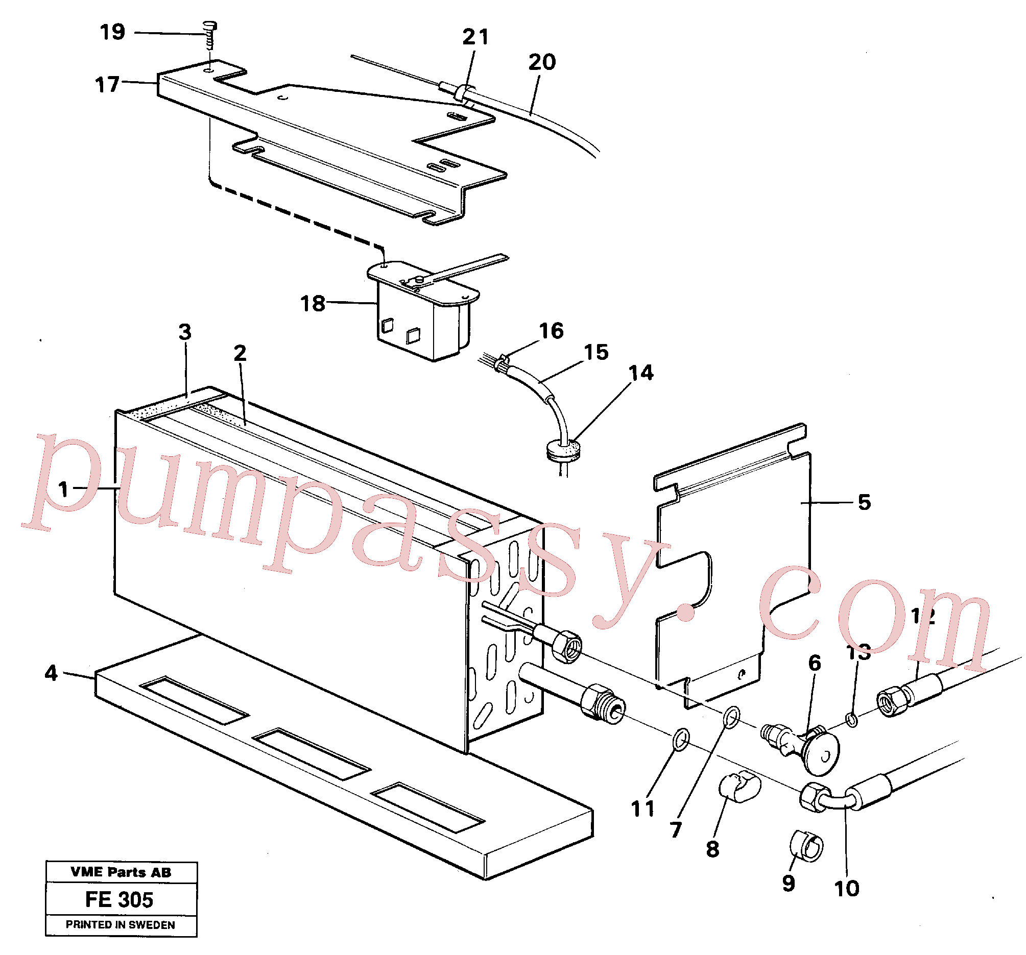 VOE14014211 for Volvo Evaporator with fitting parts(FE305 assembly)