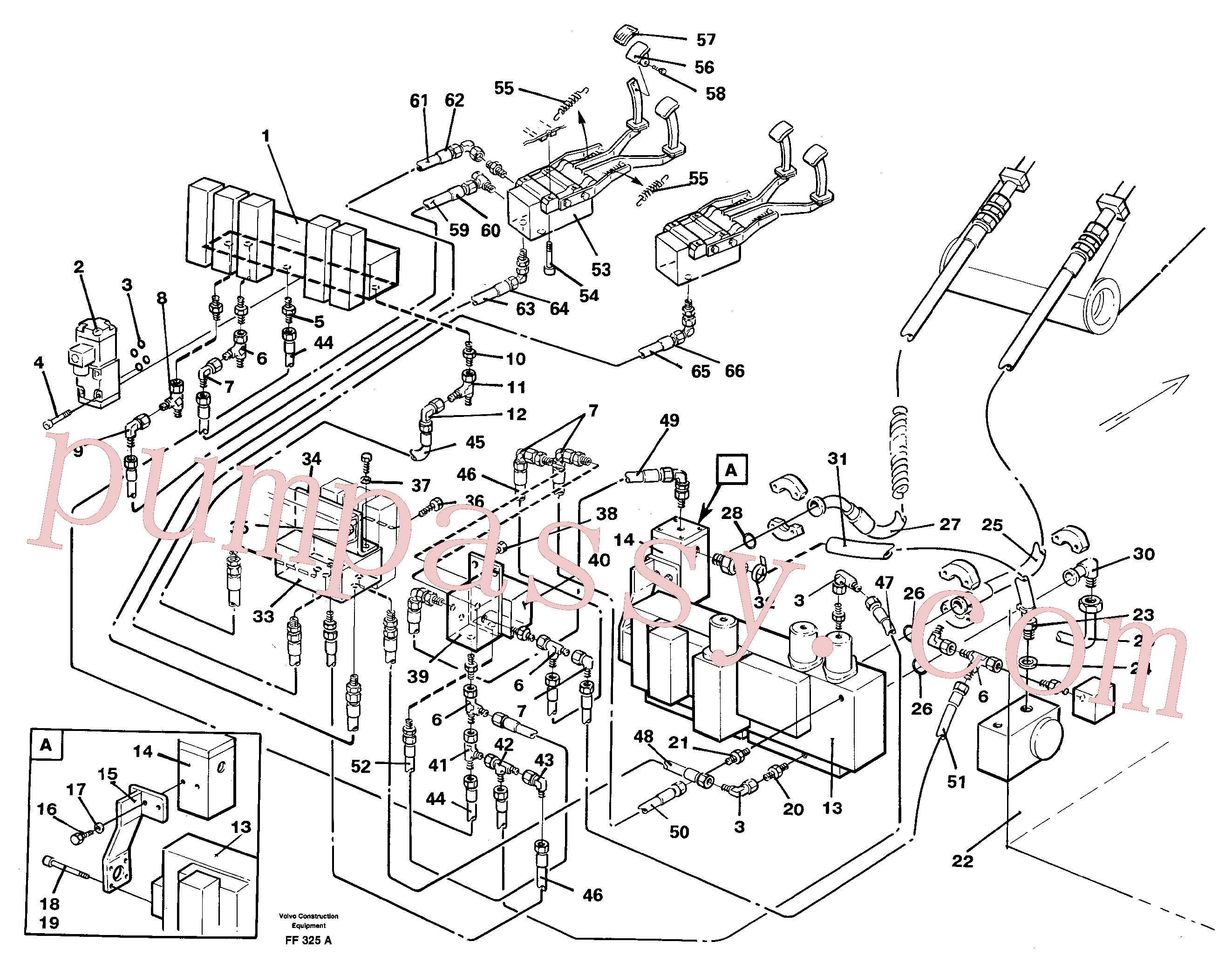 VOE14263873 for Volvo Hammer/shears, base maskin, hydraulics(FF325A assembly)