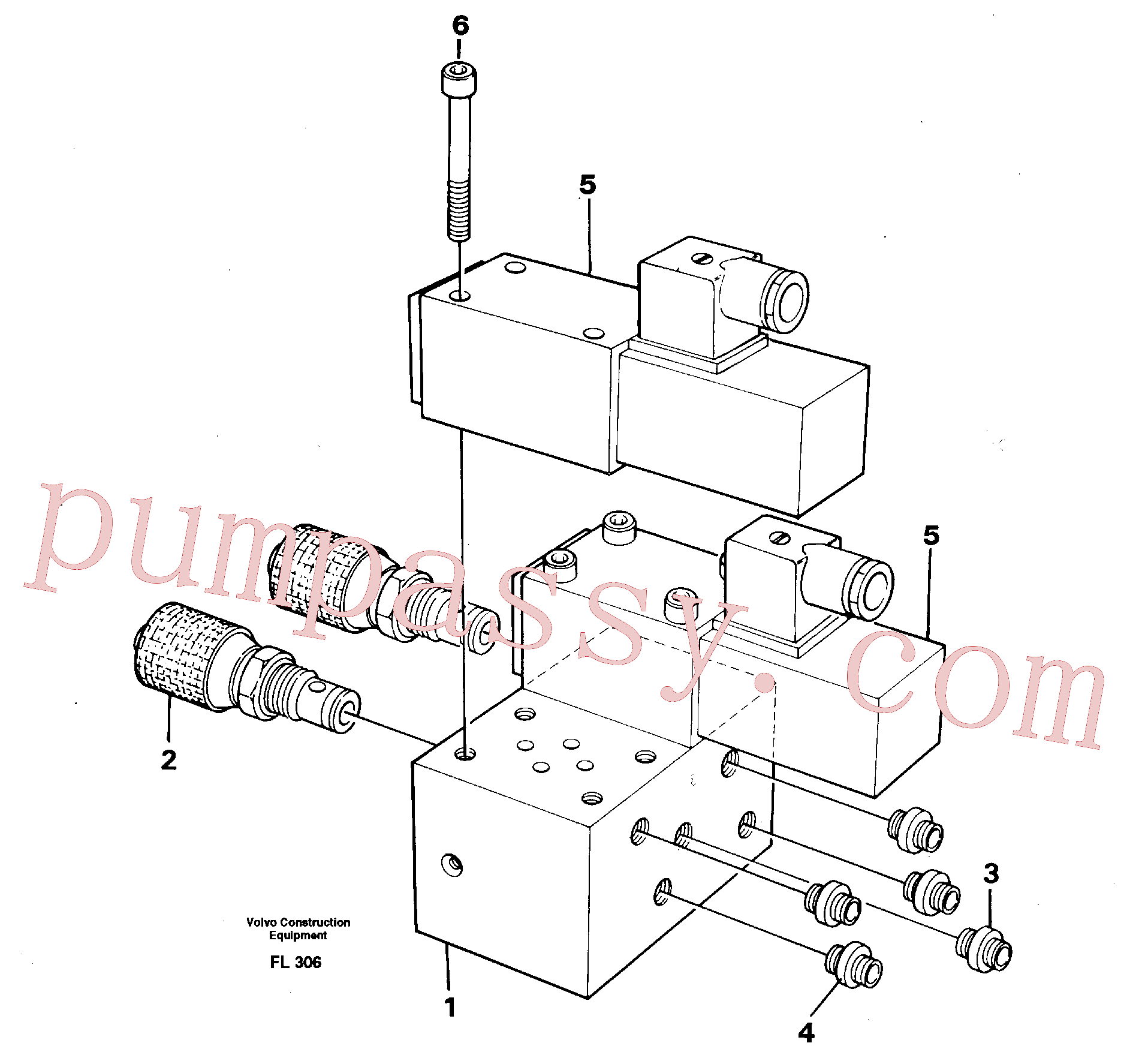 VOE14247352 for Volvo Control block for end position damp(FL306 assembly)