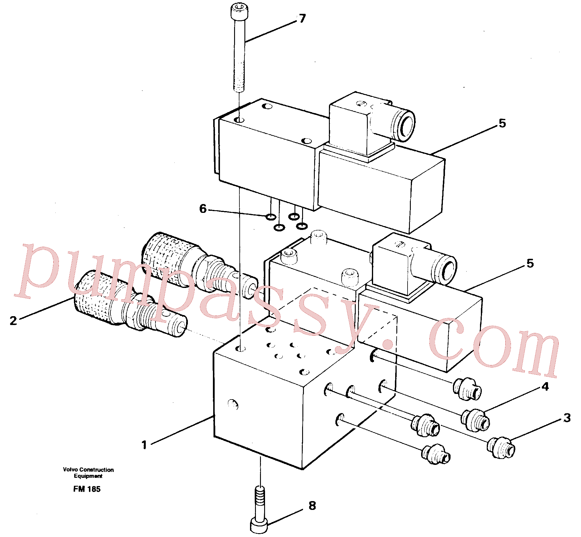 VOE14247352 for Volvo Control block for end position damp(FM185 assembly)