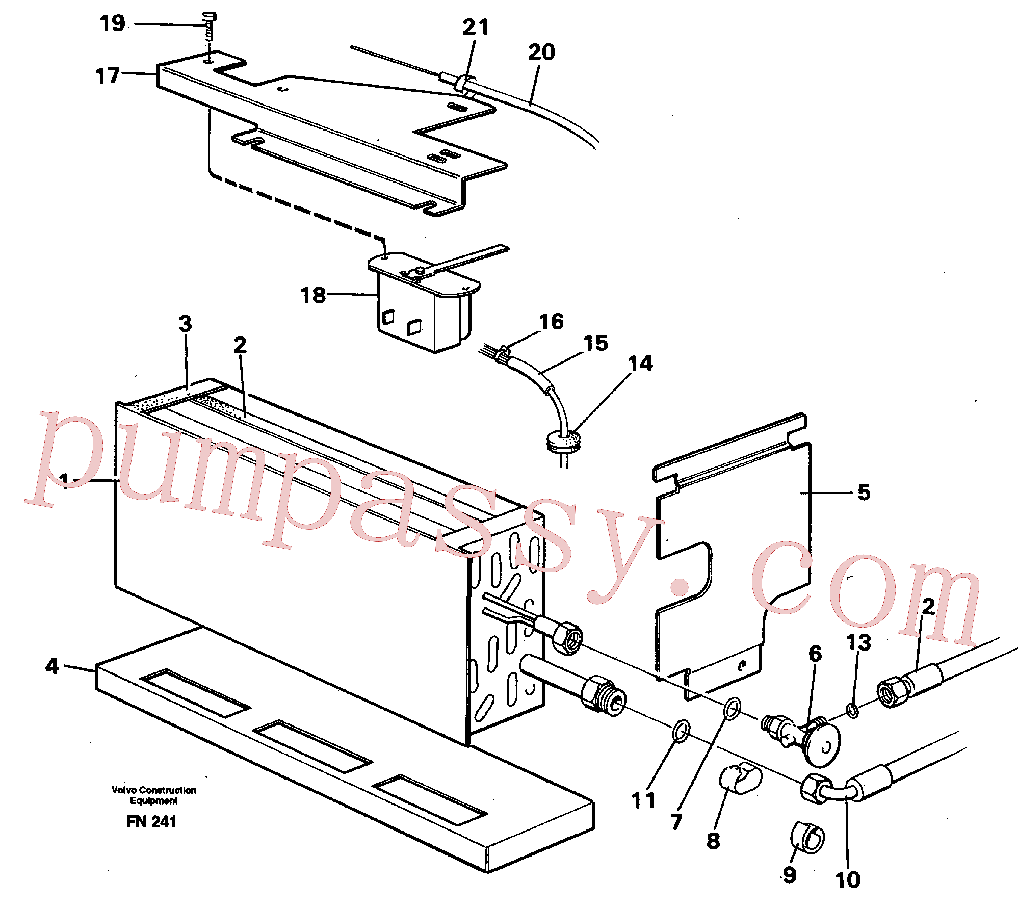 VOE14248832 for Volvo Evaporator with fitting parts Cooling agent R134 A(FN241 assembly)