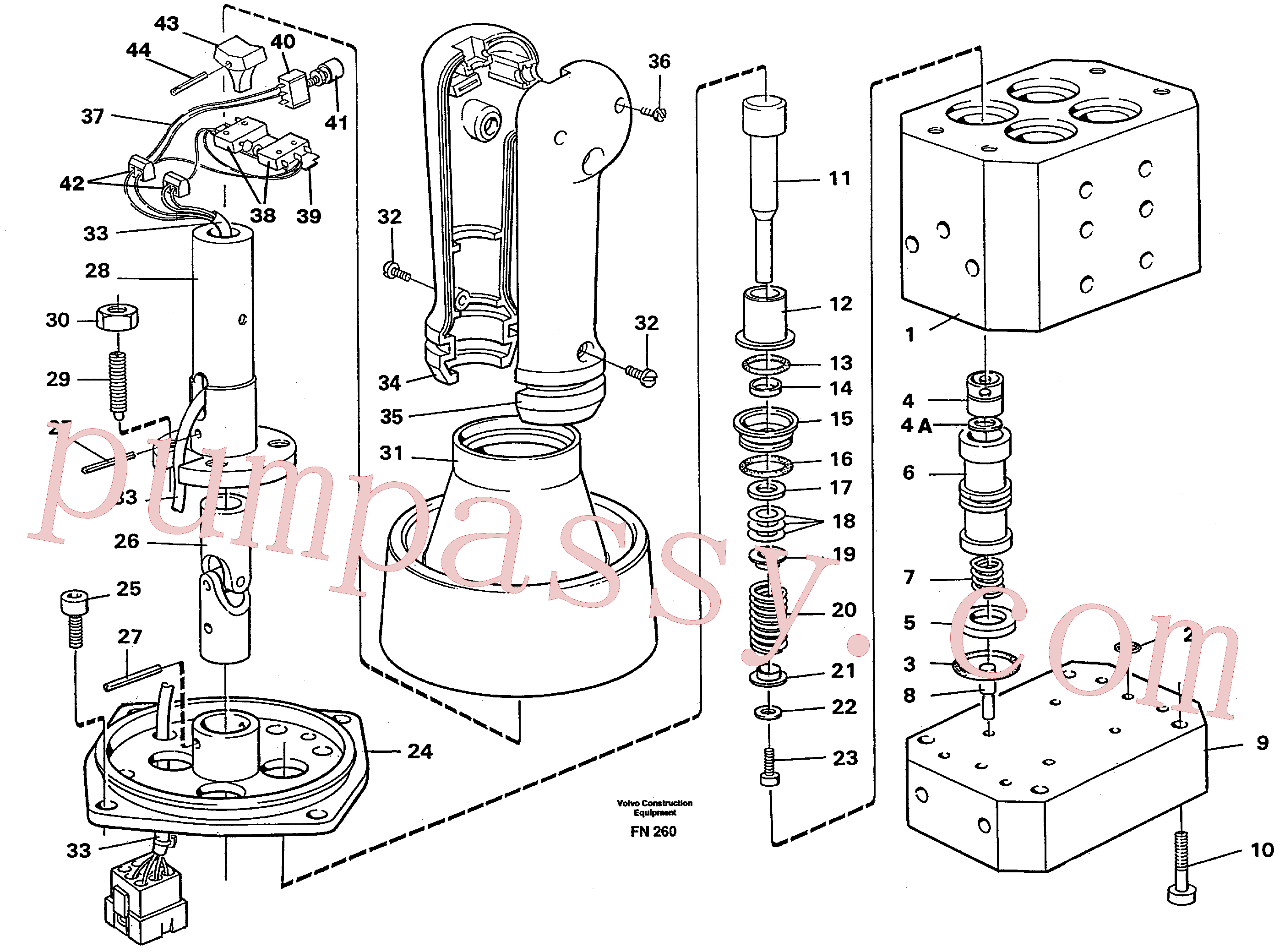 VOE14055259 for Volvo Control pressure valve(FN260 assembly)