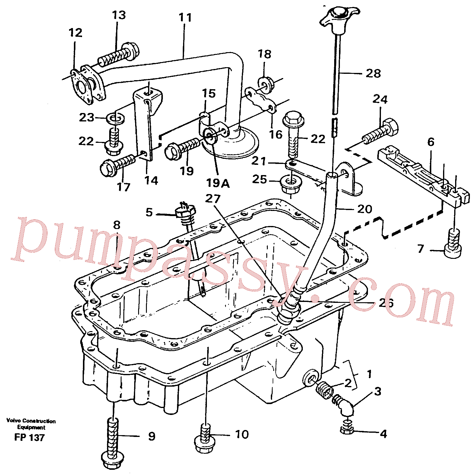 VOE11997968 for Volvo Oil sump(FP137 assembly)