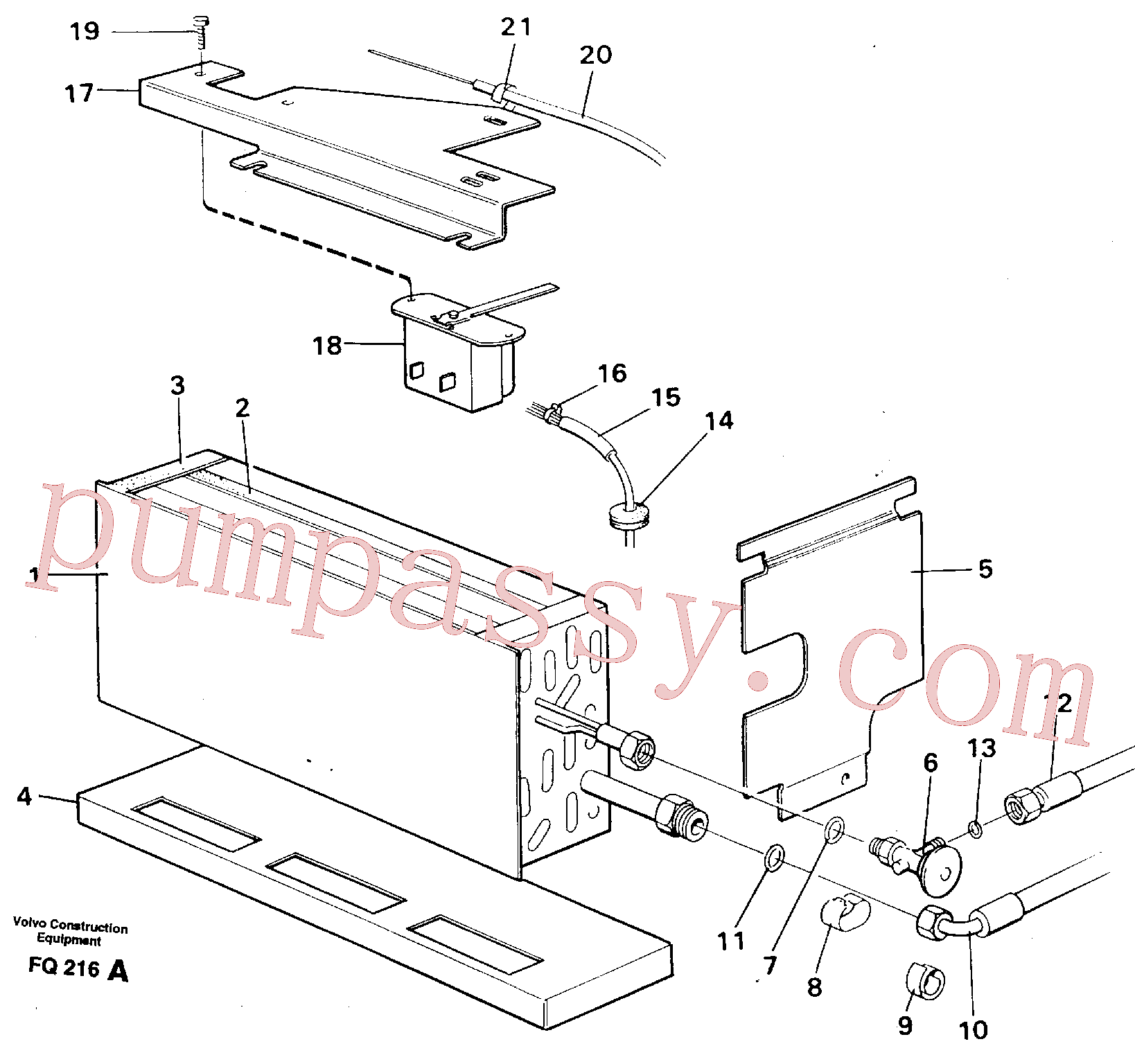 VOE14248862 for Volvo Evaporator with fitting parts Cooling agent R134 A(FQ216A assembly)