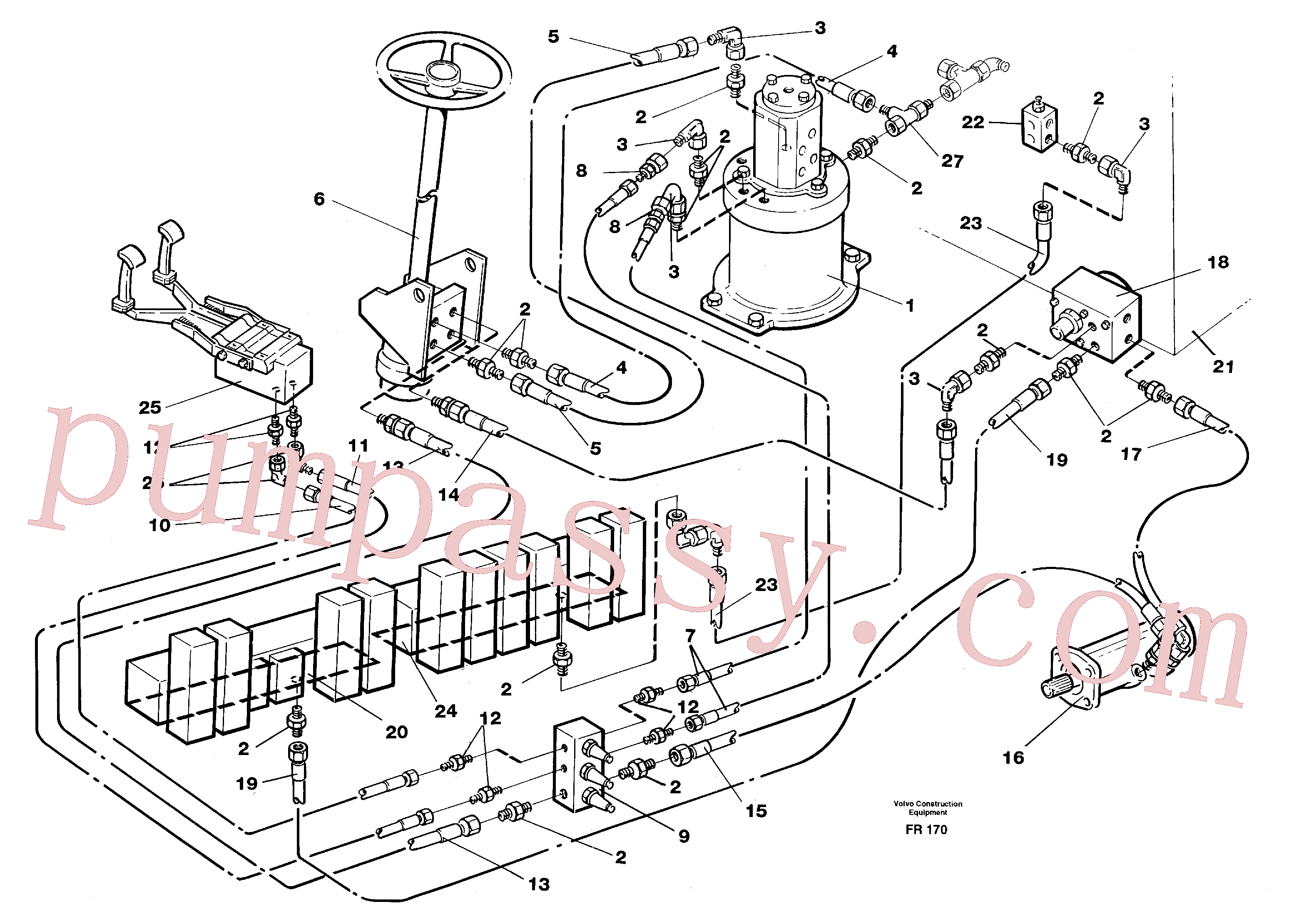 VOE14245621 for Volvo Steering system in superstructure(FR170 assembly)