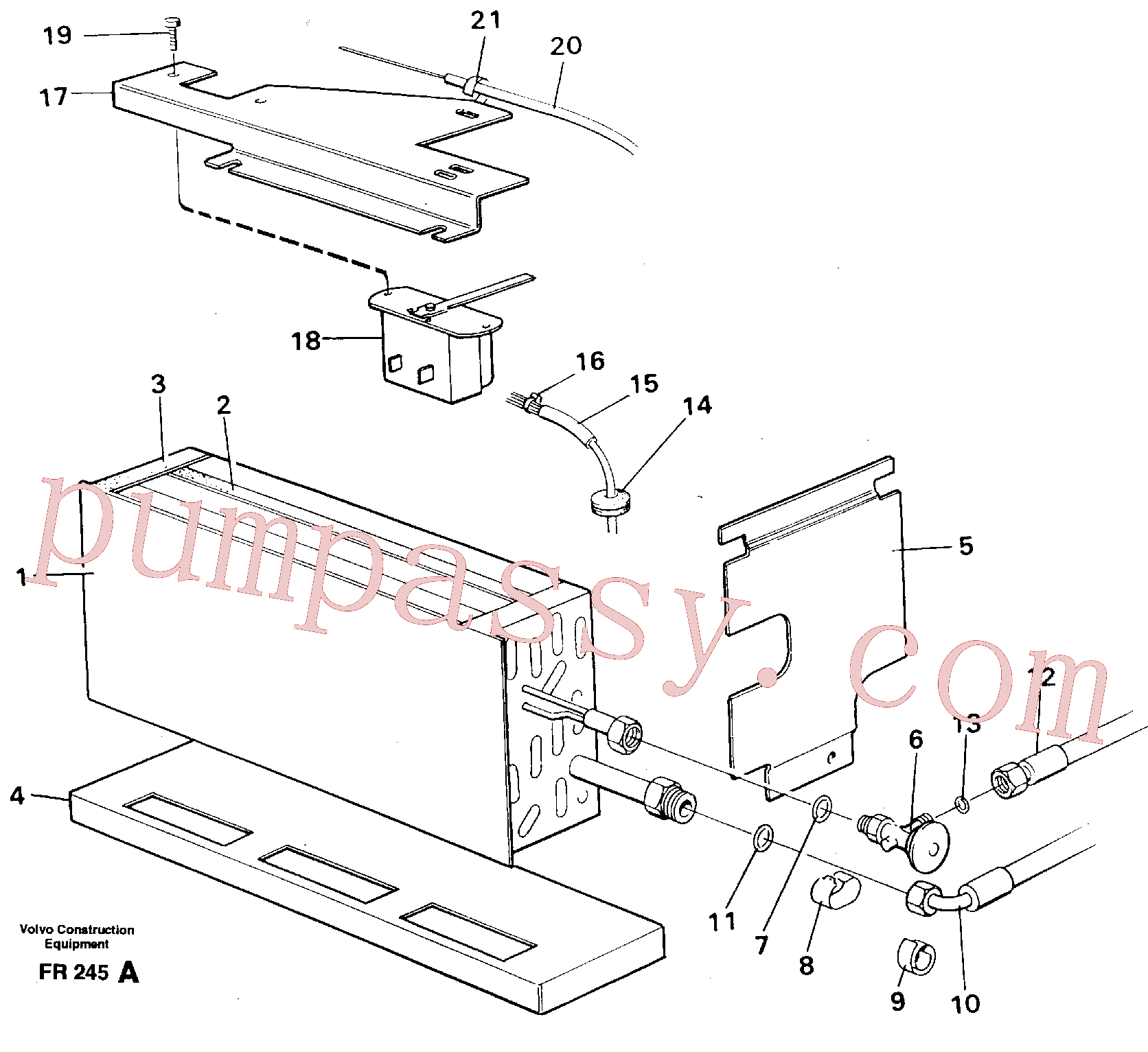 VOE14248862 for Volvo Evaporator with fitting parts Cooling agent R134 A(FR245A assembly)