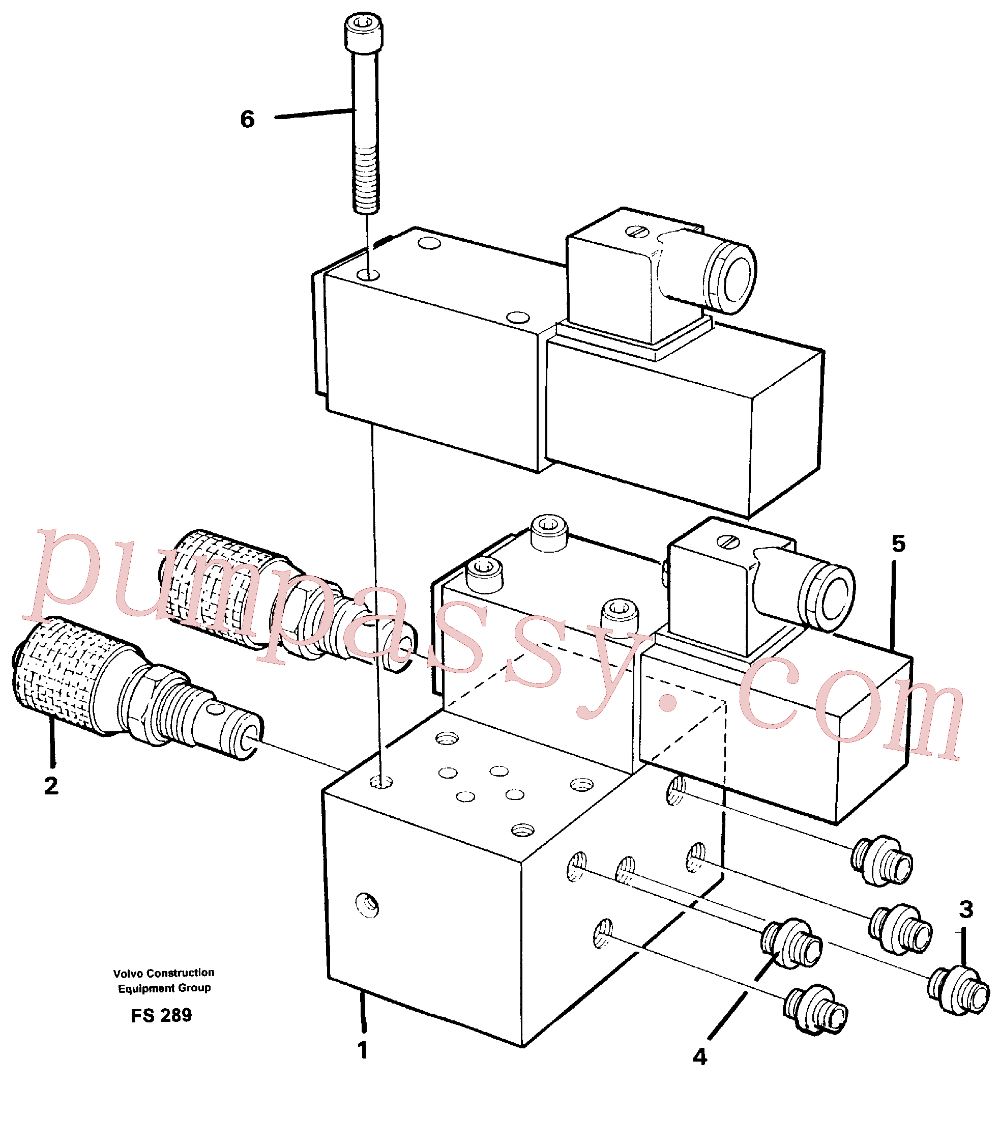 VOE14247352 for Volvo Control block for end position damp(FS289 assembly)