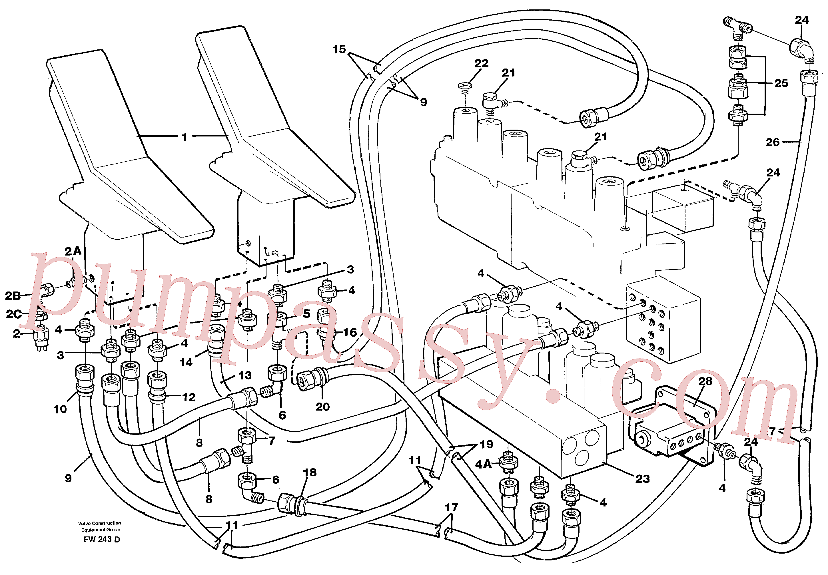 VOE14263873 for Volvo Servohydraulik, travel(FW243D assembly)