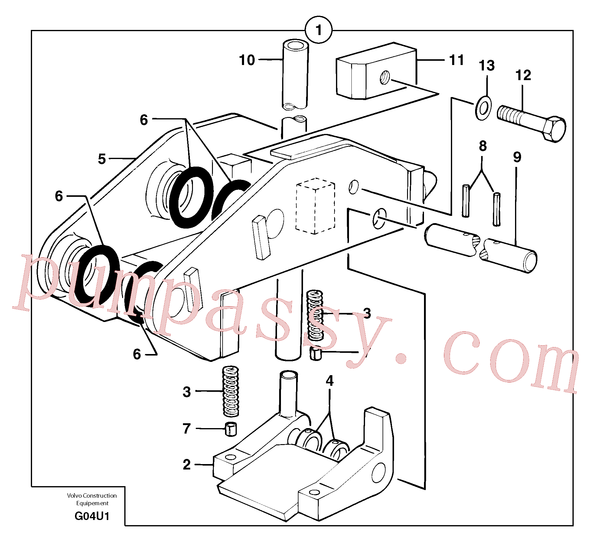 VOE11803844 for Volvo Tool holder / mechanical control(G04U1 assembly)