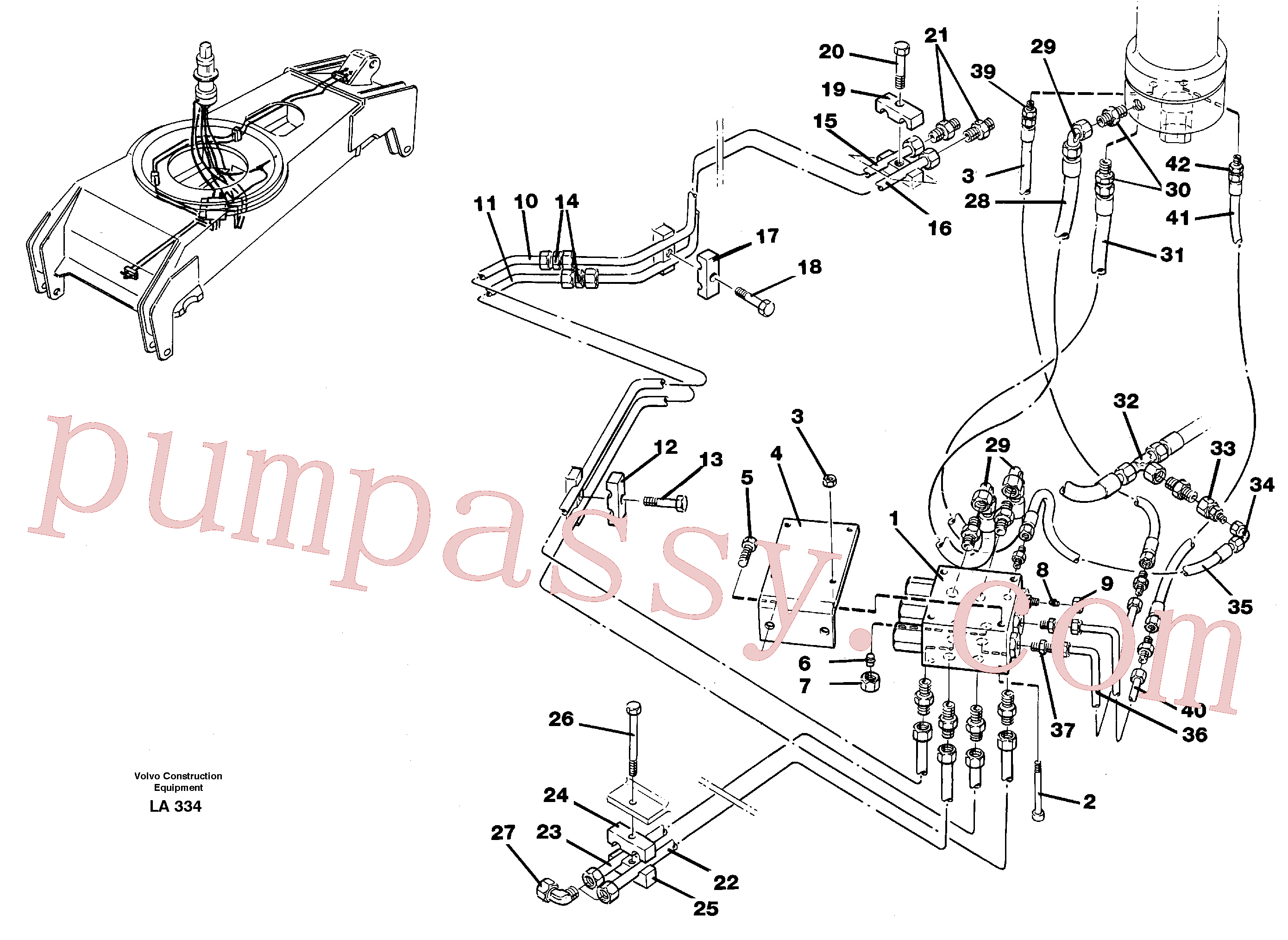 VOE14054605 for Volvo Hydraulicsystem, dozerblade,front and rear(LA334 assembly)