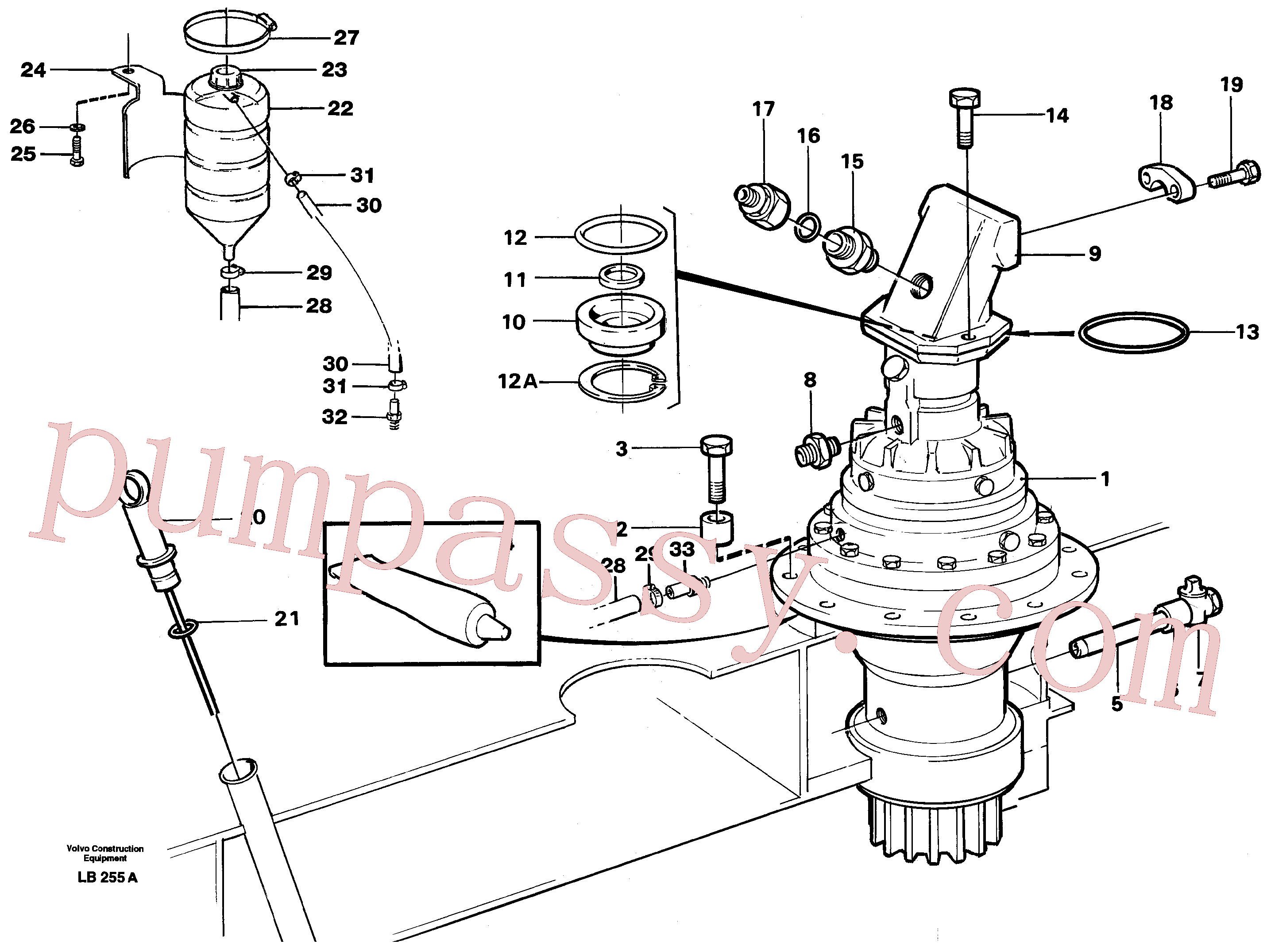 VOE11701460 for Volvo Superstructure with slew transmission(LB255A assembly)