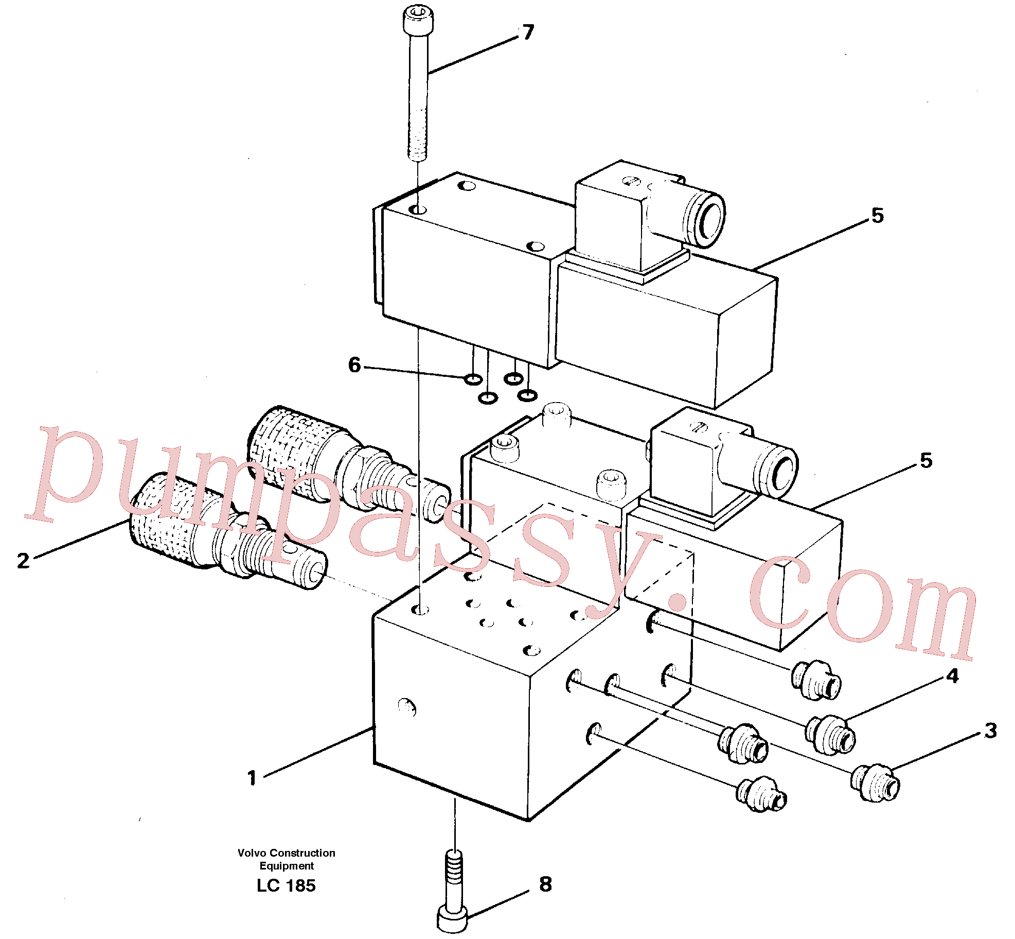VOE14247352 for Volvo Control block for end position damp(LC185 assembly)
