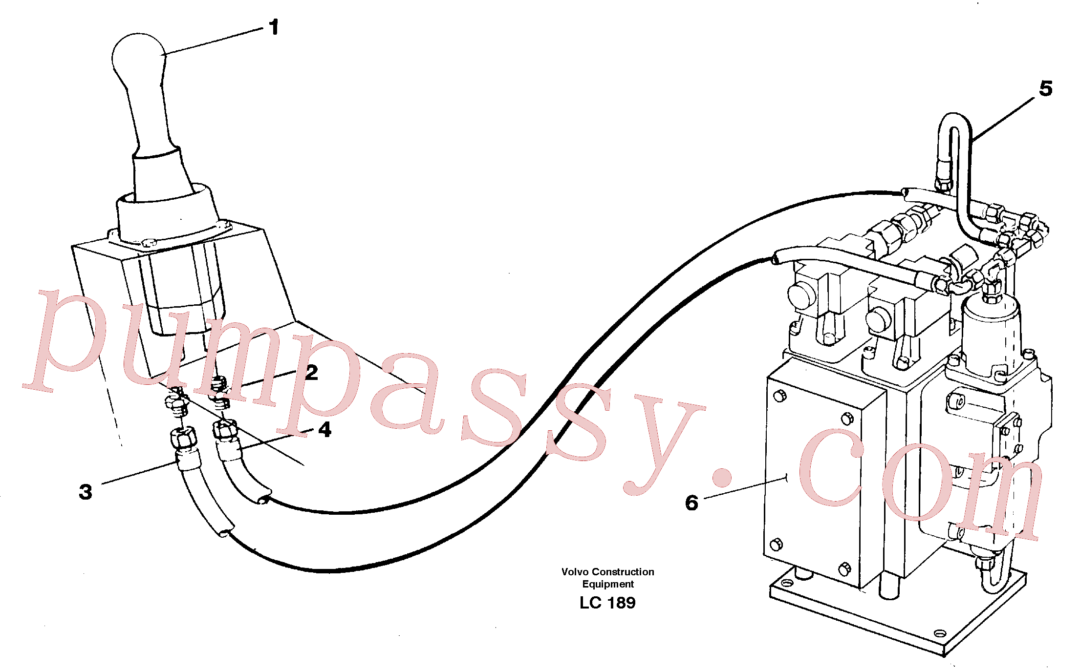 VOE14263873 for Volvo Servo hydraulics, Slewing(LC189 assembly)