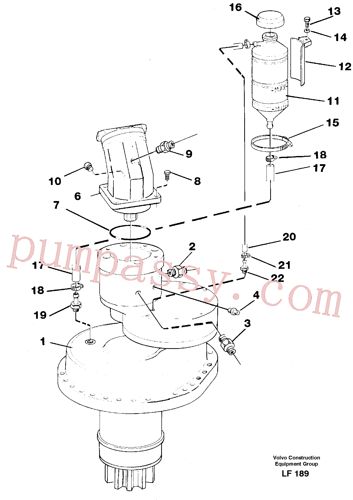VOE14048501 for Volvo Slewing gear box, compl.(LF189 assembly)