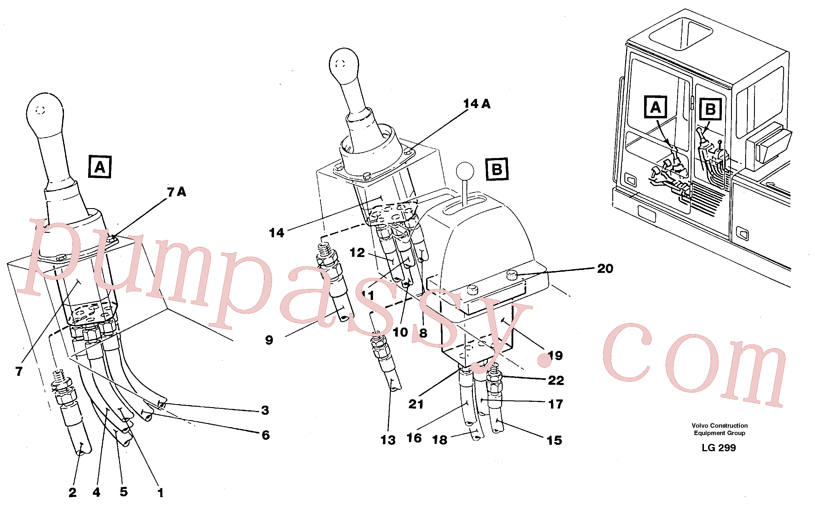 VOE14023215 for Volvo Joy Stick left and right(LG299 assembly)