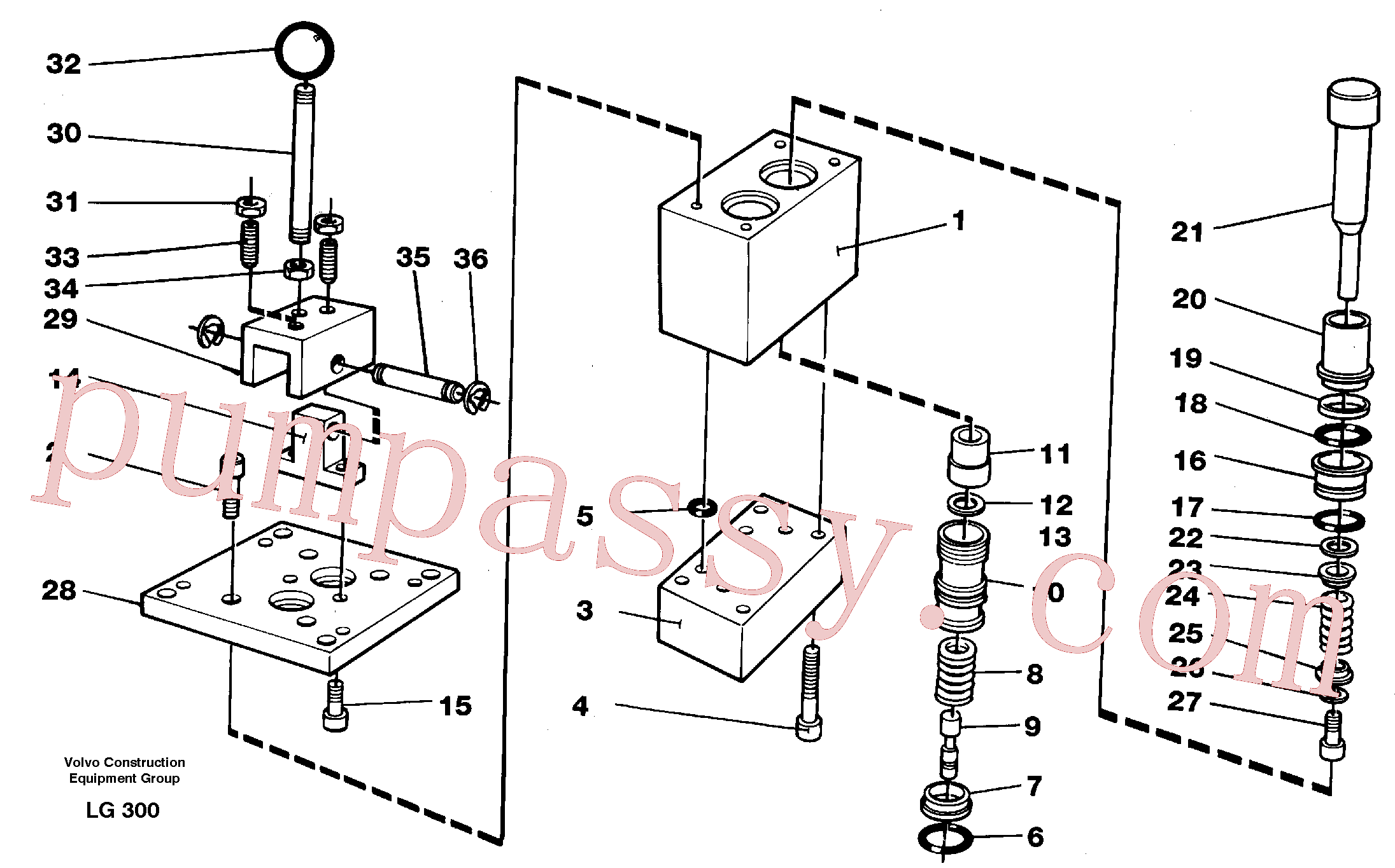 VOE14055259 for Volvo Control pressure valve(LG300 assembly)