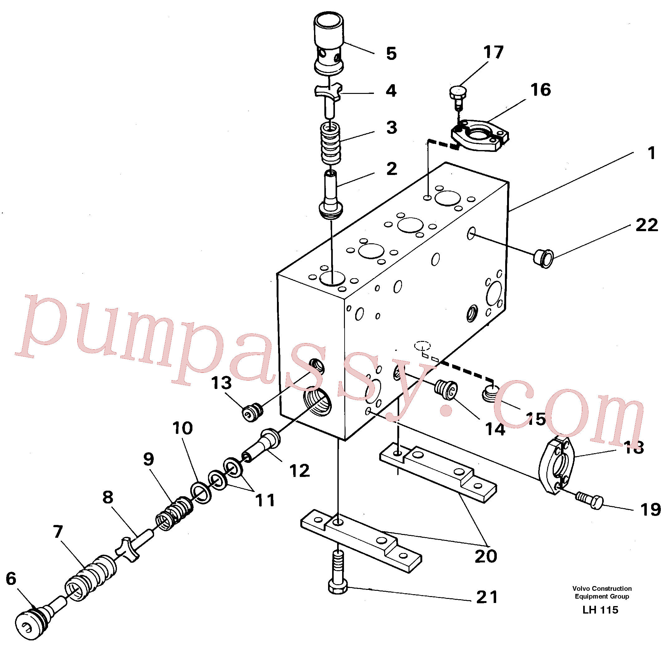 VOE14024207 for Volvo Connection board(LH115 assembly)