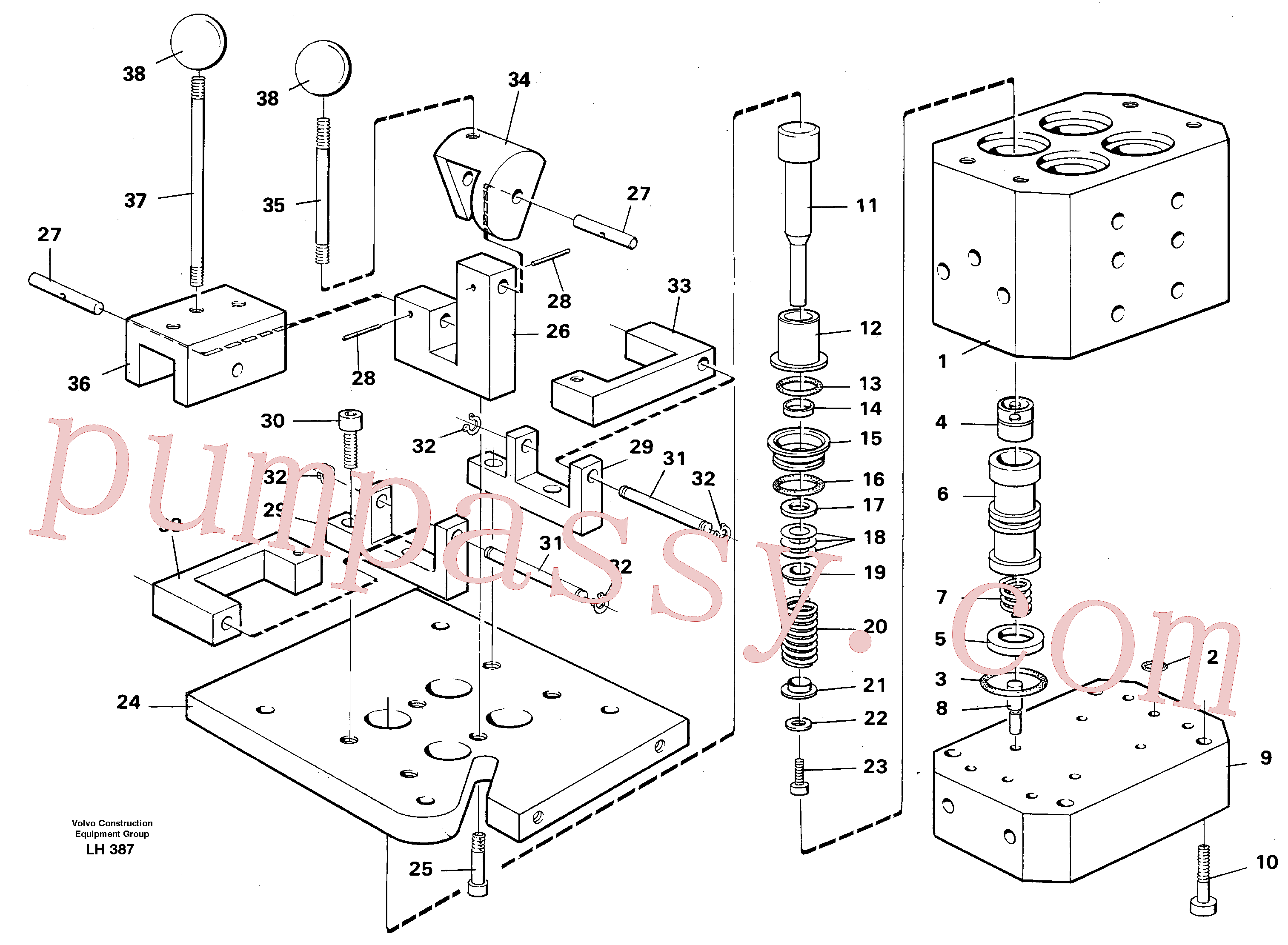 VOE6635902 for Volvo Control pressure valve(LH387 assembly)