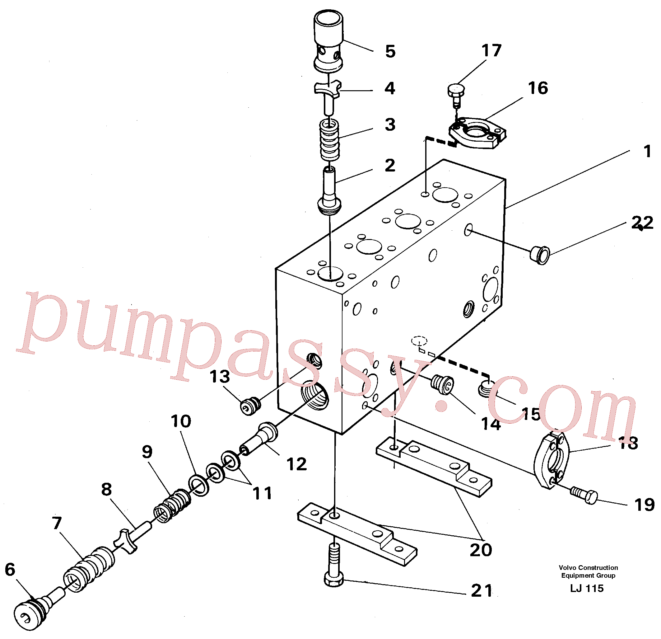VOE14024207 for Volvo Connection board(LJ115 assembly)