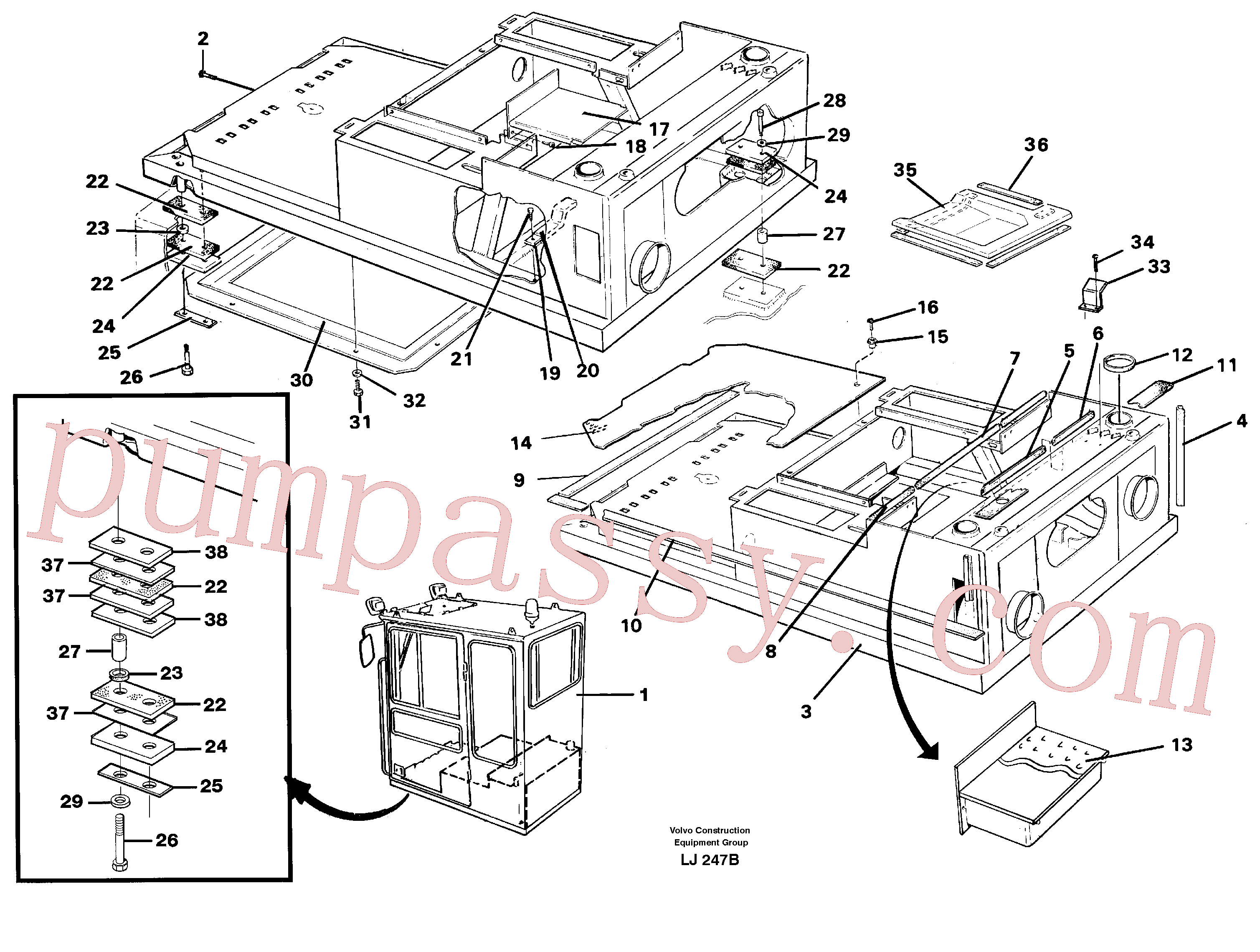 VOE4755948 for Volvo Cab body and operators area(LJ247B assembly)