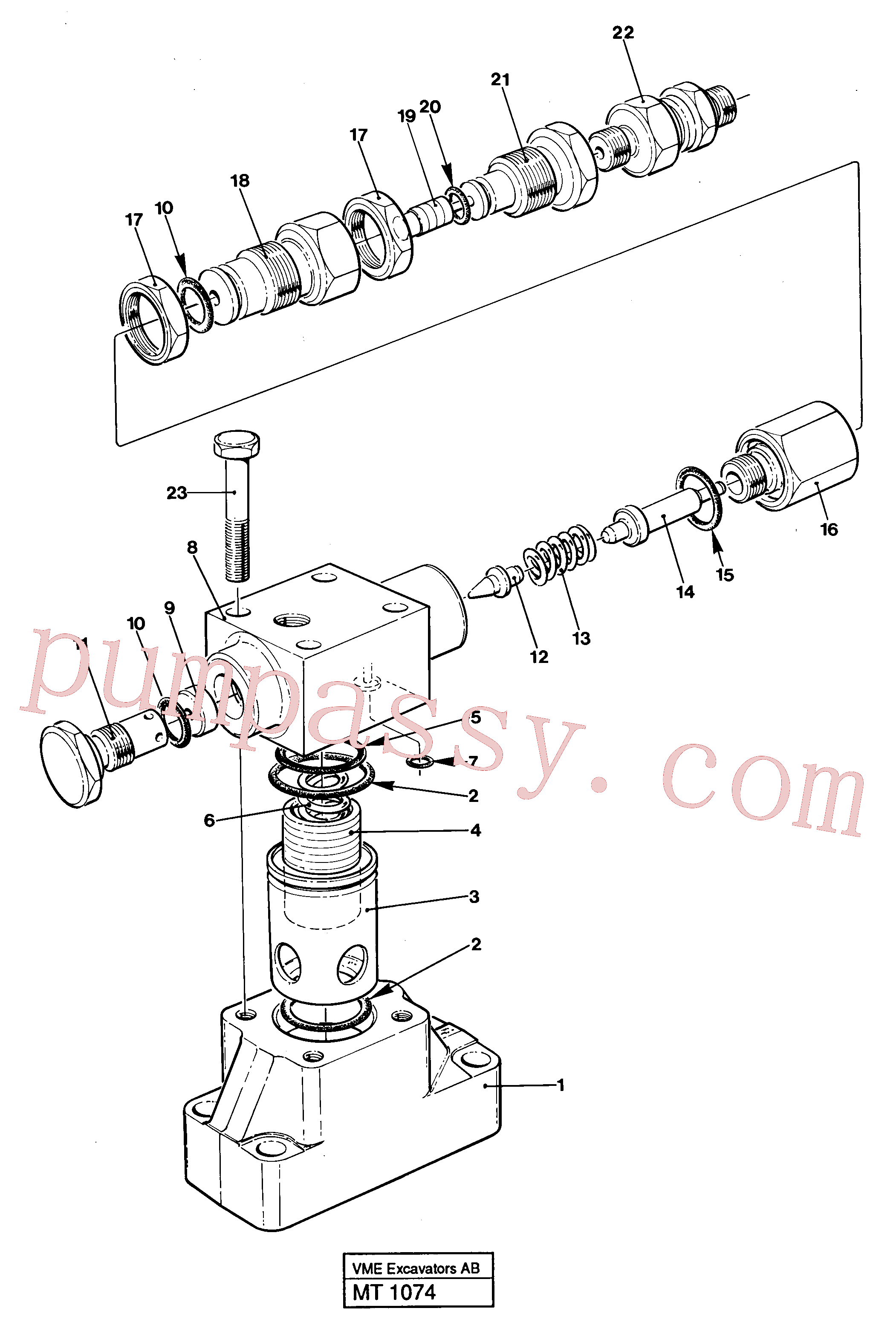 VOE14234388 for Volvo Pressure limiting valve(MT1074 assembly)