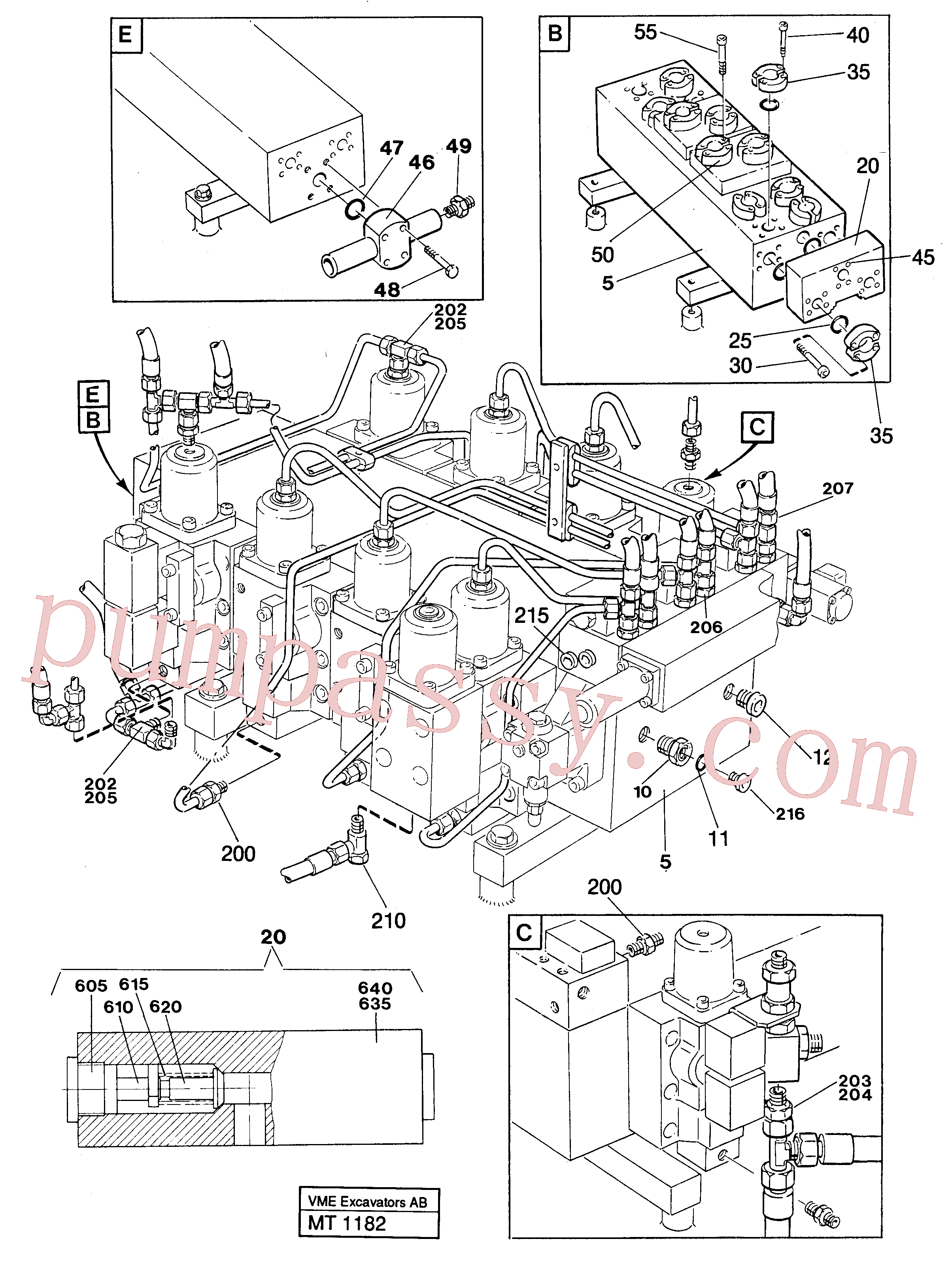 ZM2810961 for Volvo Main valve assembly with connections(MT1182 assembly)