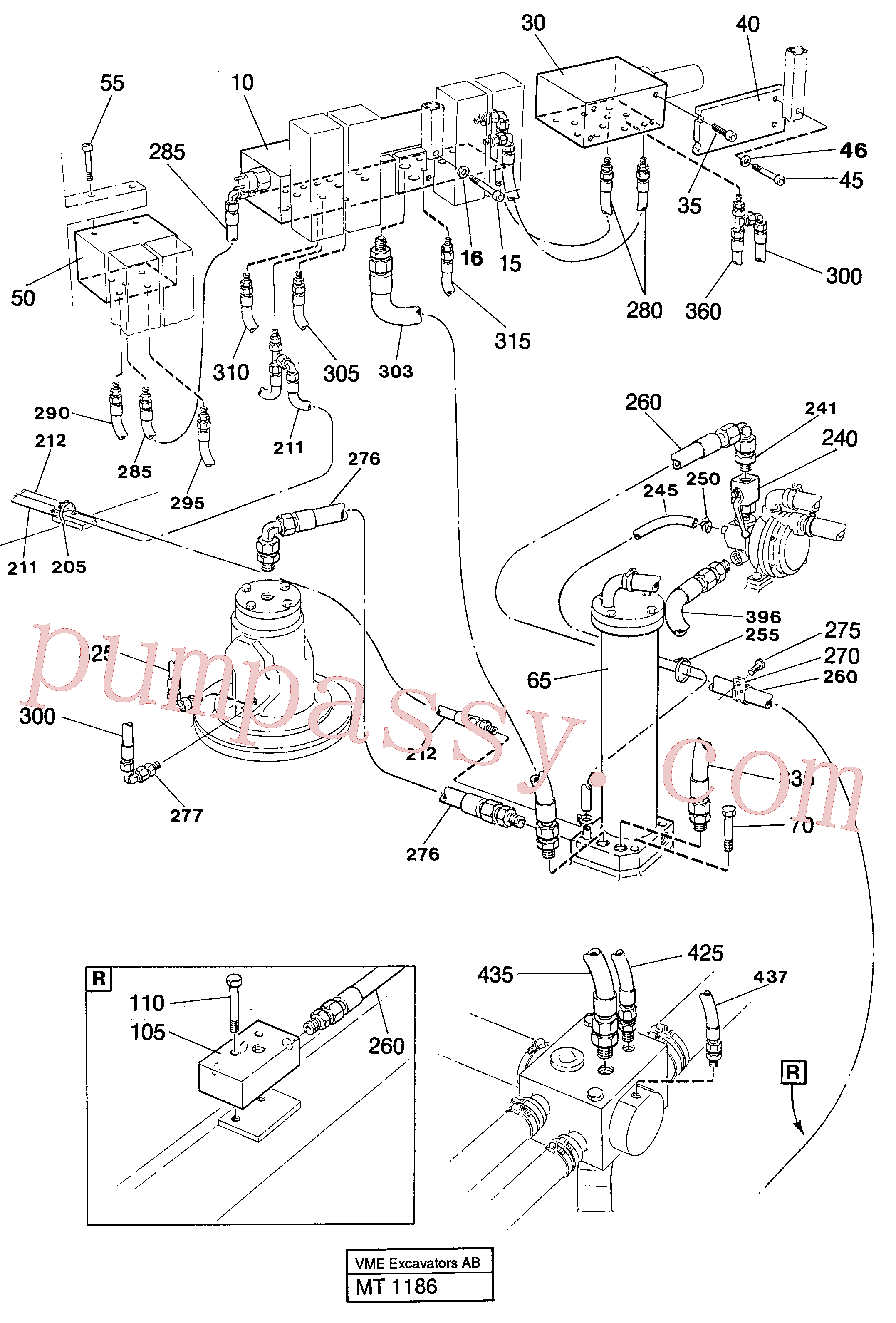 VOE14231551 for Volvo Lines in valve compartment(MT1186 assembly)