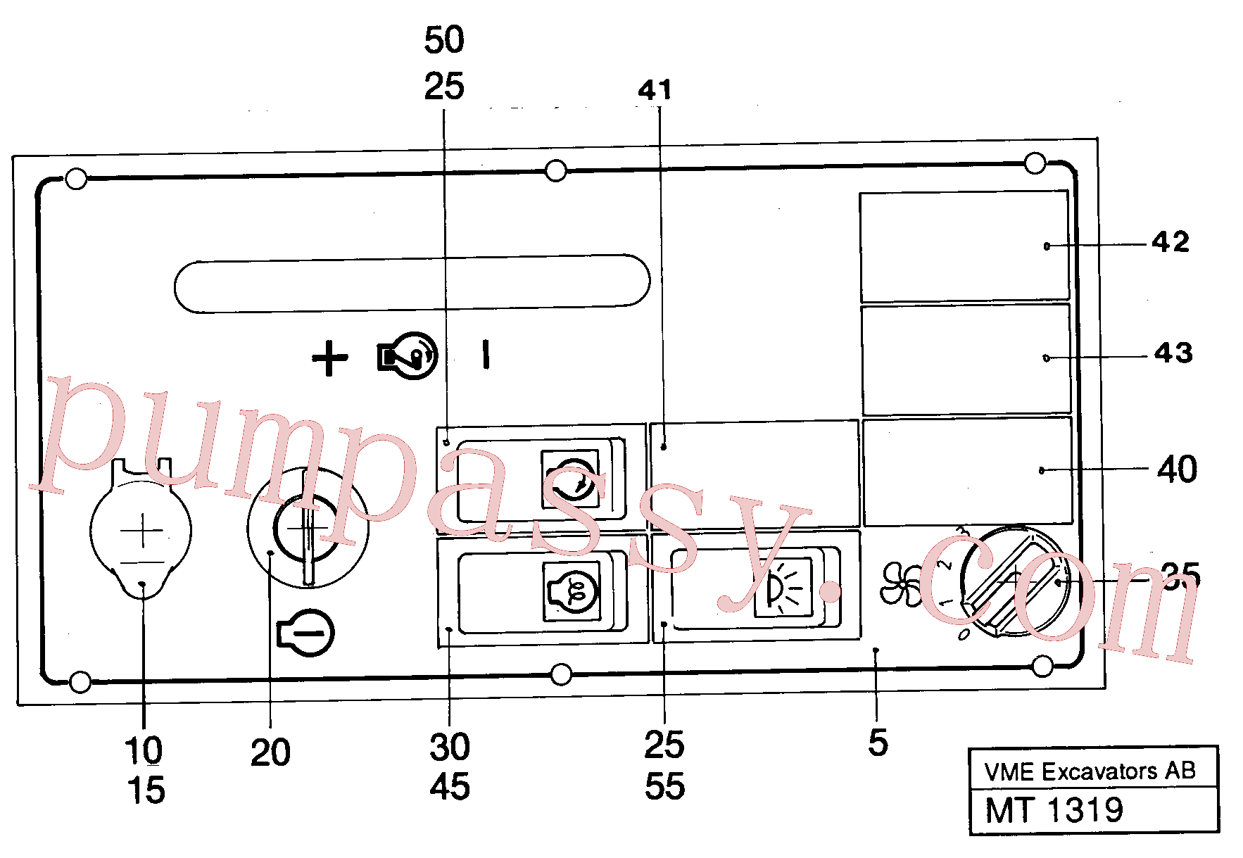 VOE14212237 for Volvo Engine control panel(MT1319 assembly)