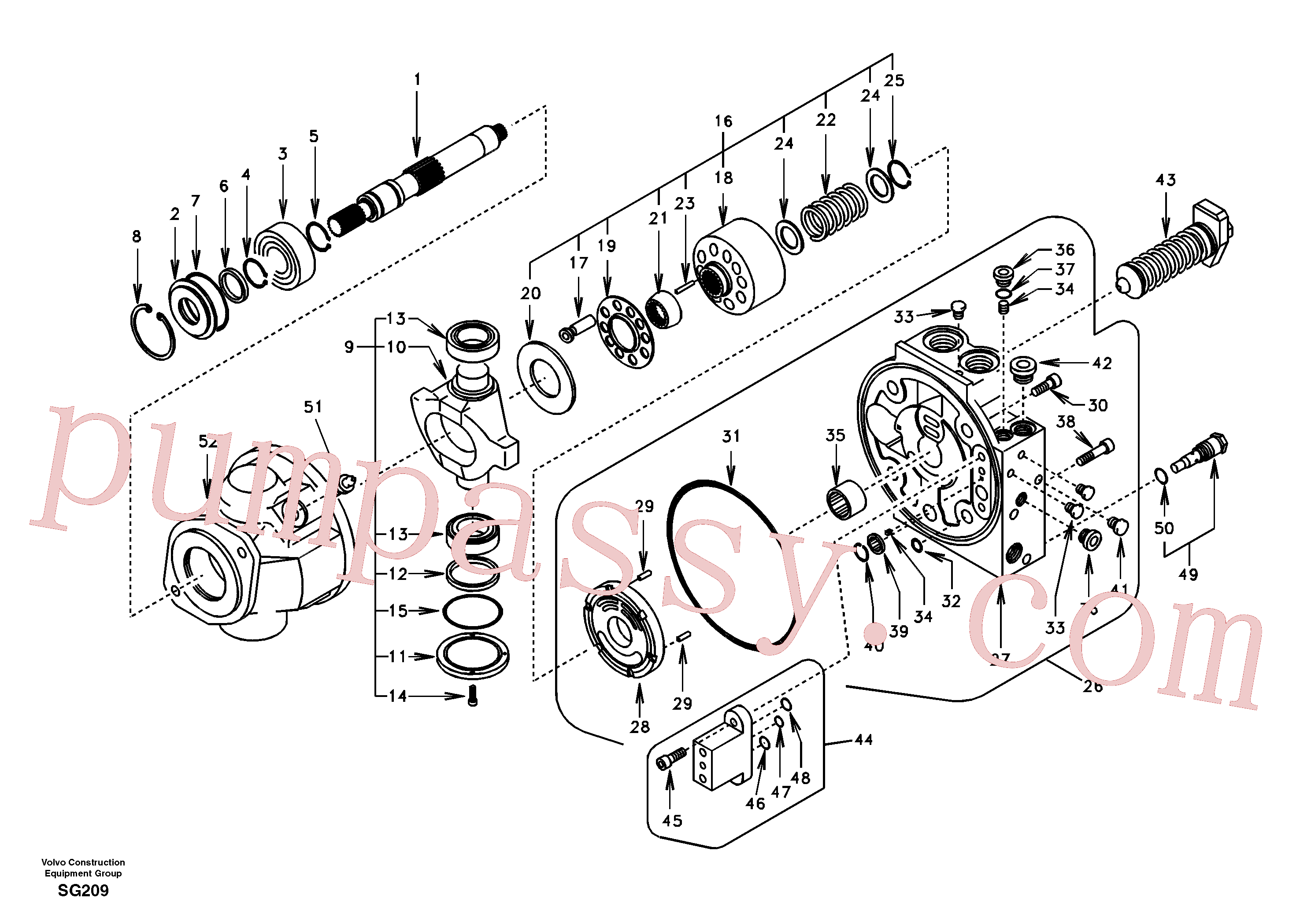 VOE14504579 for Volvo Hydraulic pump(SG209 assembly)