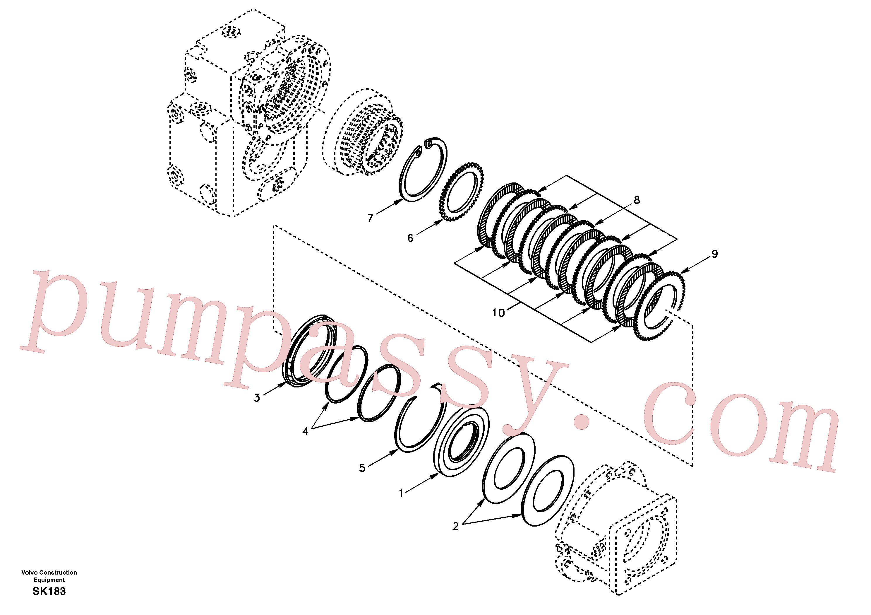 SA8220-02440 for Volvo Disc brake(SK183 assembly)