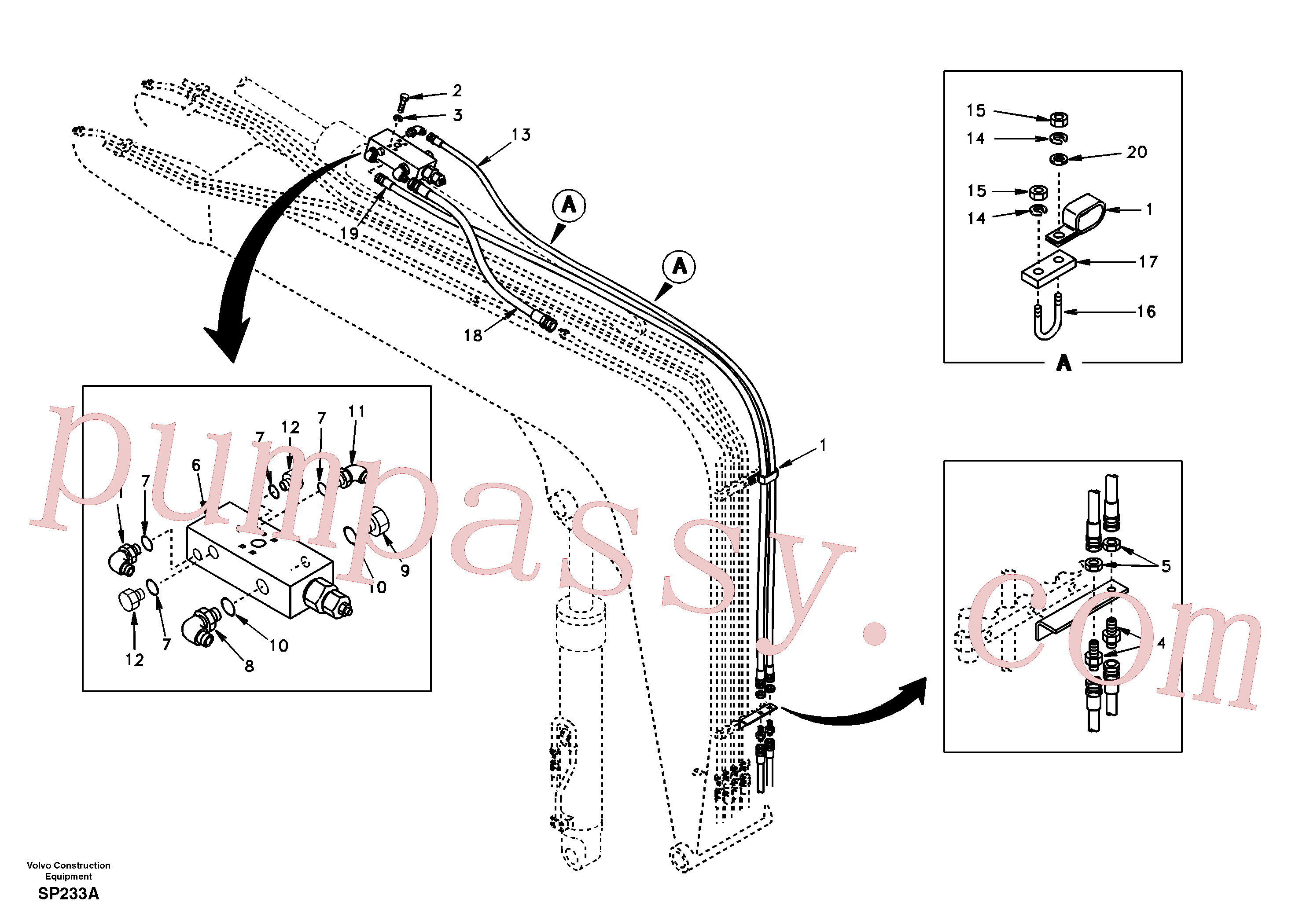 SA9451-04716 Hose assembly for Volvo Excavator Parts