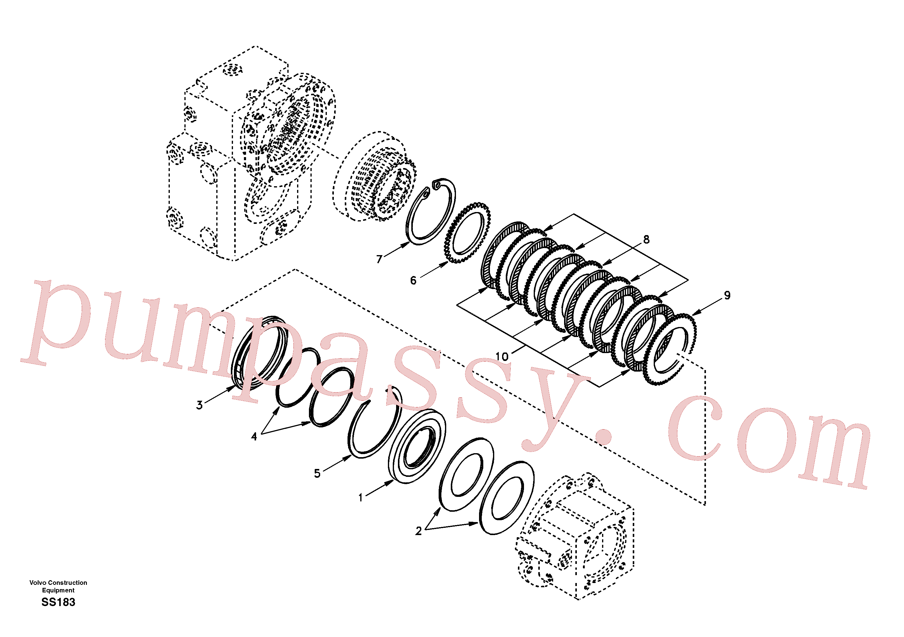 SA8220-02440 for Volvo Disc brake(SS183 assembly)
