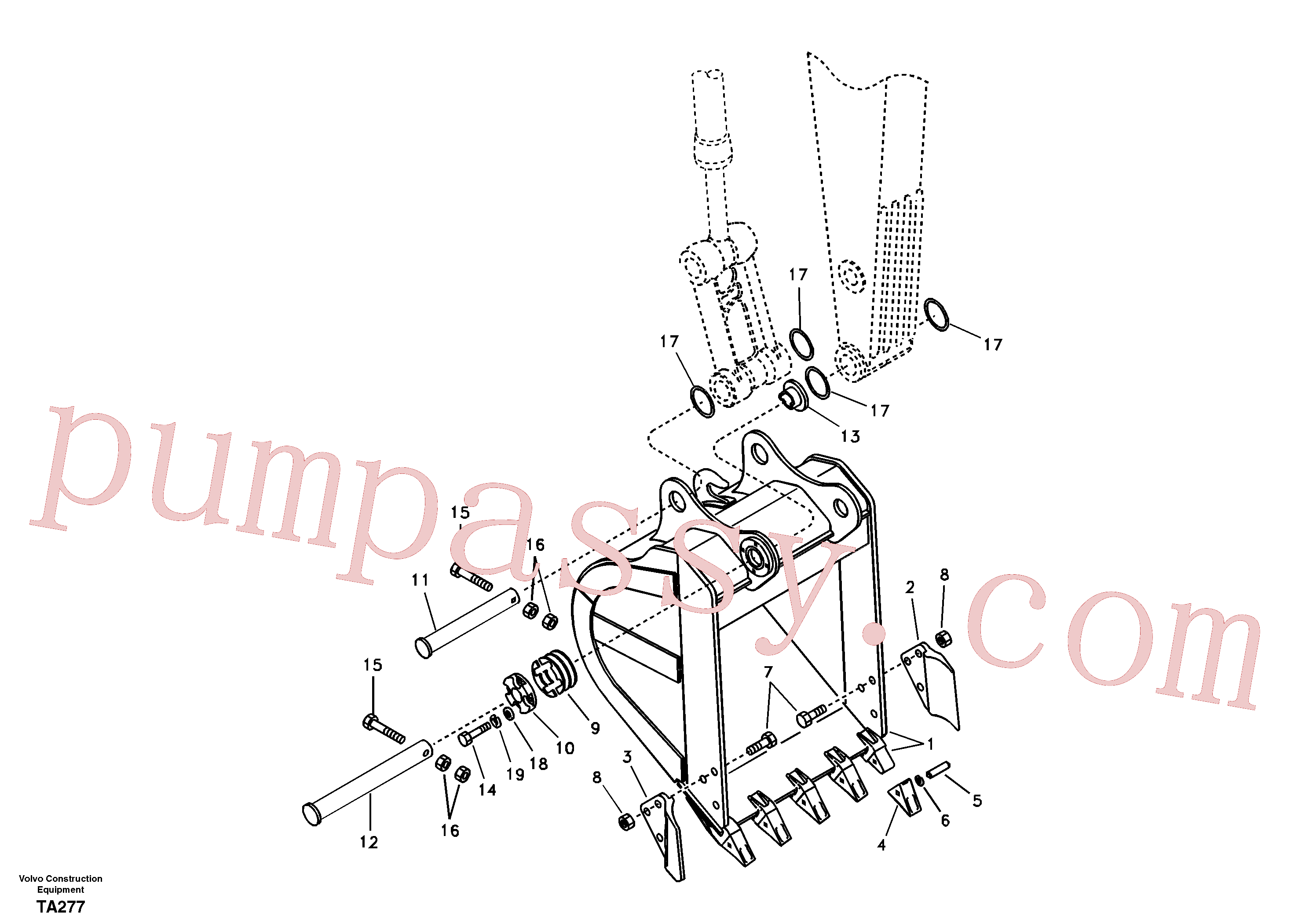 VOE14540004 for Volvo Bucket(TA277 assembly)
